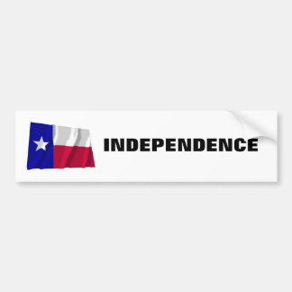 Texas Independence Bumper Sticker
