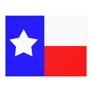 Texas Independence Day - 49 x 37 Canvas Flag Gallery Wrapped Canvas