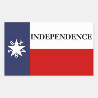 Texas Independence Lone Star Flag Rectangular Sticker