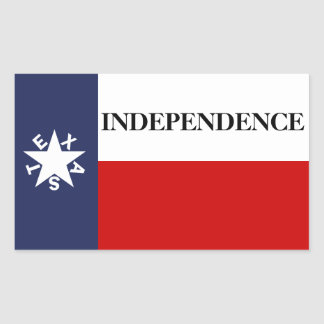 Texas Independence Lone Star Flag Rectangle Stickers