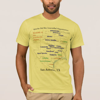 Texas Indian Map 2, Apache Del Rio Intertribal ... T-Shirt