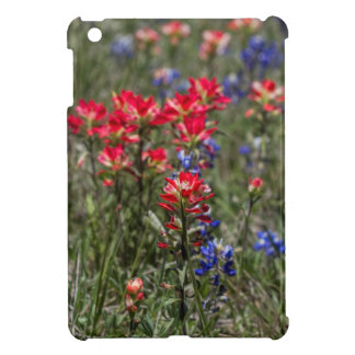 Texas Indian Paintbrush and Bluebonnet Wildflowers iPad Mini Covers