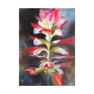 """Texas Indian Paintbrush"" Pastel by Karen  Chatham Canvas Print"