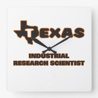 Texas Industrial Research Scientist Square Wall Clocks