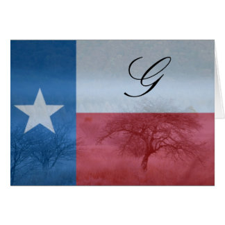 Texas Initialed Card