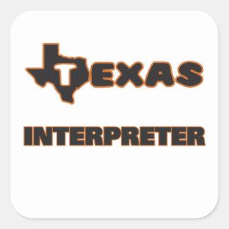 Texas Interpreter Square Sticker