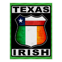 Texas Irish American Poster Print
