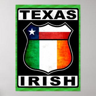 Texas Irish American Poster Print