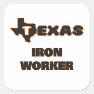 Texas Iron Worker Square Sticker