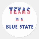 Texas is a Blue State Round Sticker