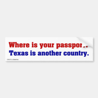 Texas is a completely different country 2 car bumper sticker