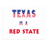 Texas is a Red State Post Card