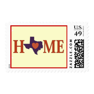 Texas is Home Postage Stamp