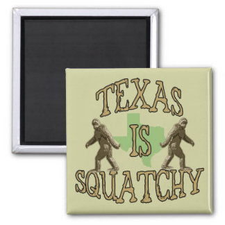 Texas Is Squatchy 2 Inch Square Magnet