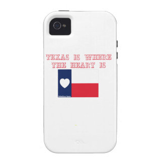 Texas is where the heart is iPhone 4 cases