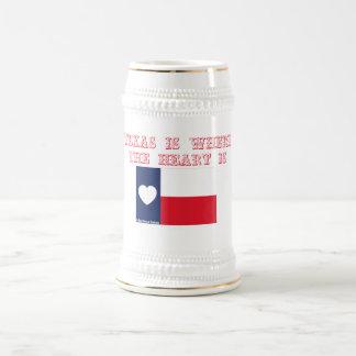 Texas is where the heart is mug