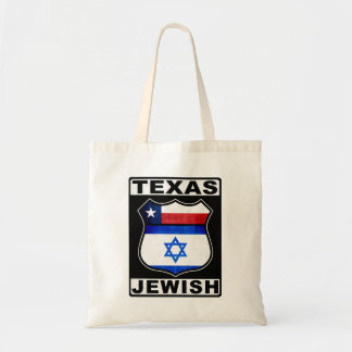 Texas Jewish American Budget Tote Bag