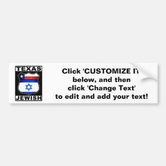 Texas Jewish American Bumper Sticker