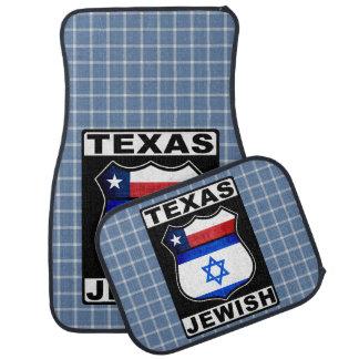 Texas Jewish American Car Mat Set