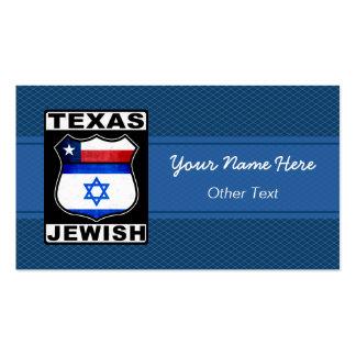 Texas Jewish American Custom Business Cards