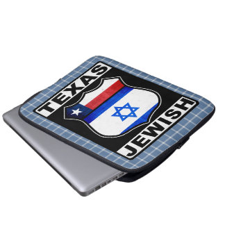 Texas Jewish American Laptop Cover