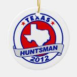 Texas Jon Huntsman Christmas Ornaments
