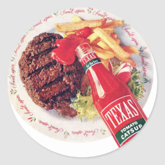 Texas Ketchup Burger and Fries Stickers