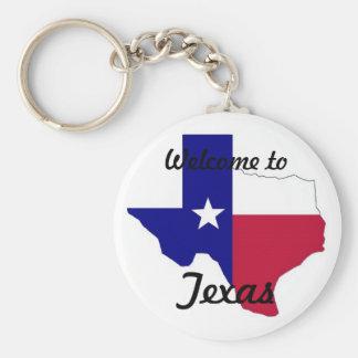 Texas Keychian Basic Round Button Keychain