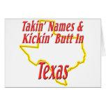 Texas - Kickin' Butt Greeting Cards