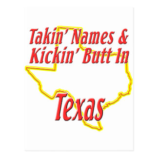 Texas - Kickin' Butt Postcard