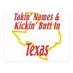 Texas - Kickin' Butt Postcard