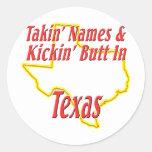 Texas - Kickin' Butt Stickers