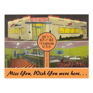 Texas, Lacy's Drive-In, Texarkana Postcard