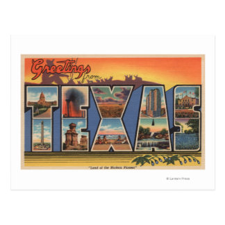Texas (Land of the Modern Pioneer) Postcards