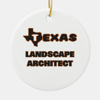 Texas Landscape Architect Double-Sided Ceramic Round Christmas Ornament