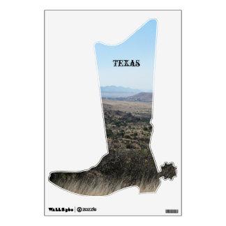 Texas Landscape-Boot Wall Sticker