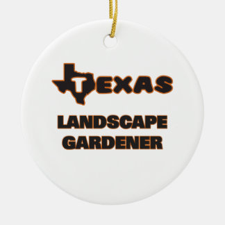 Texas Landscape Gardener Double-Sided Ceramic Round Christmas Ornament