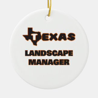Texas Landscape Manager Double-Sided Ceramic Round Christmas Ornament