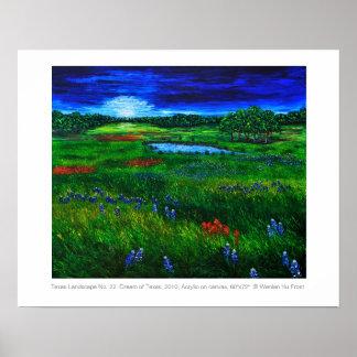 Texas Landscape Poster by Artist Wenlan Hu Frost