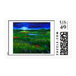 Texas Landscape Stamp