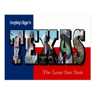 TEXAS Large Letter Postcard