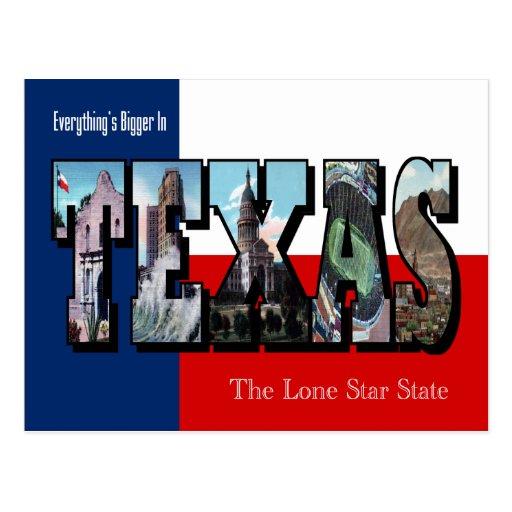 TEXAS  Large Letter Postcard
