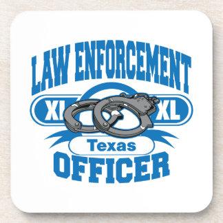 Texas Law Enforcement Officer Handcuffs Beverage Coaster