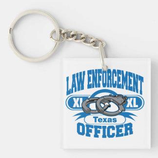 Texas Law Enforcement Officer Handcuffs Keychain