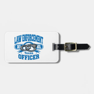 Texas Law Enforcement Officer Handcuffs Luggage Tag