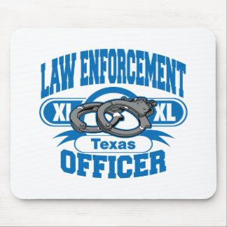 Texas Law Enforcement Officer Handcuffs Mouse Pad