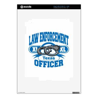 Texas Law Enforcement Officer Handcuffs iPad 2 Skins