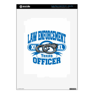 Texas Law Enforcement Officer Handcuffs Decals For iPad 3