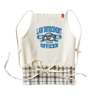 Texas Law Enforcement Officer Handcuffs Zazzle HEART Apron