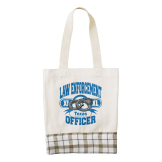 Texas Law Enforcement Officer Handcuffs Zazzle HEART Tote Bag